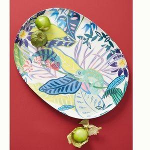 NWT Anthropology Large Tropical Melamine Platter